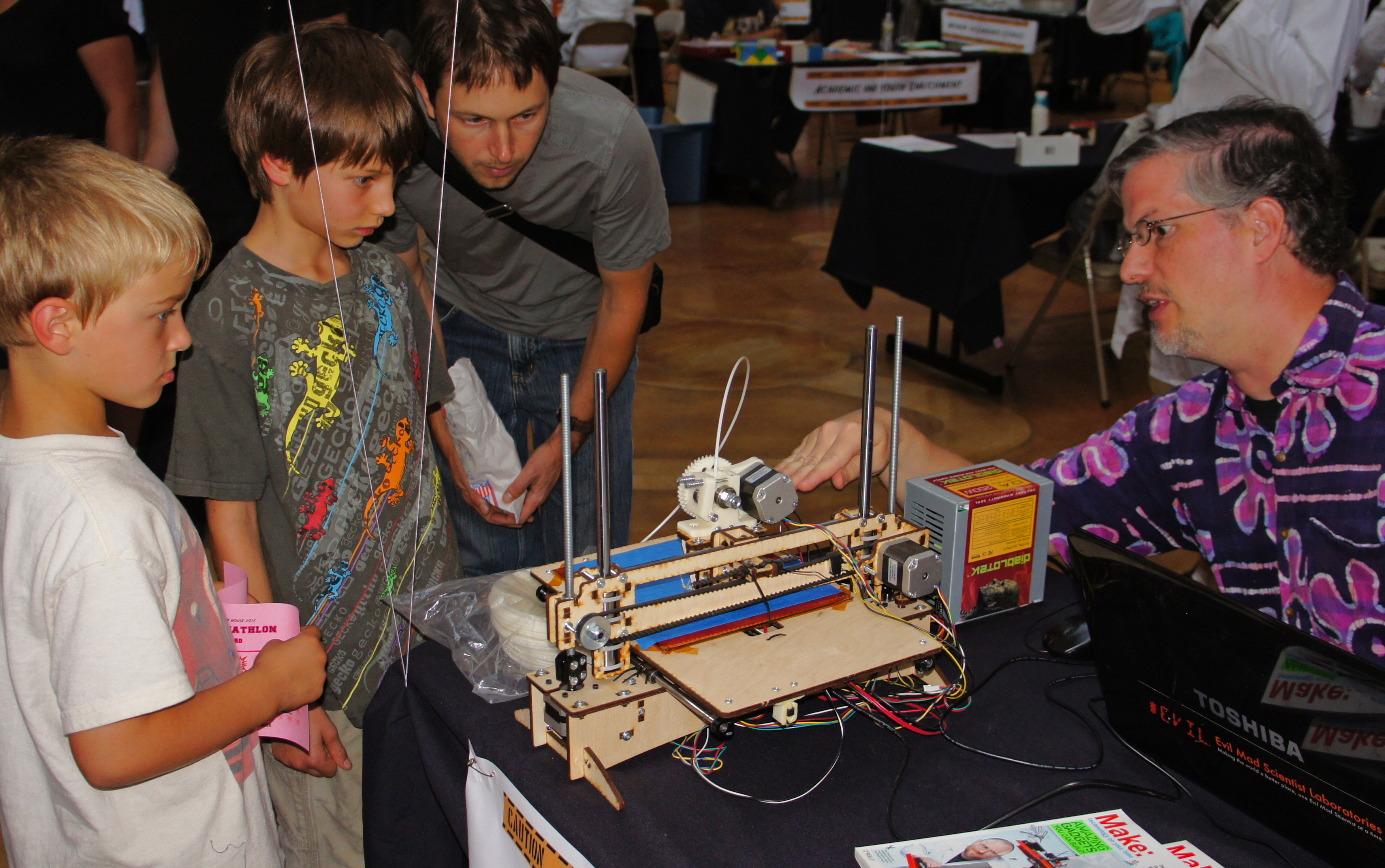 Mark with his printrbot