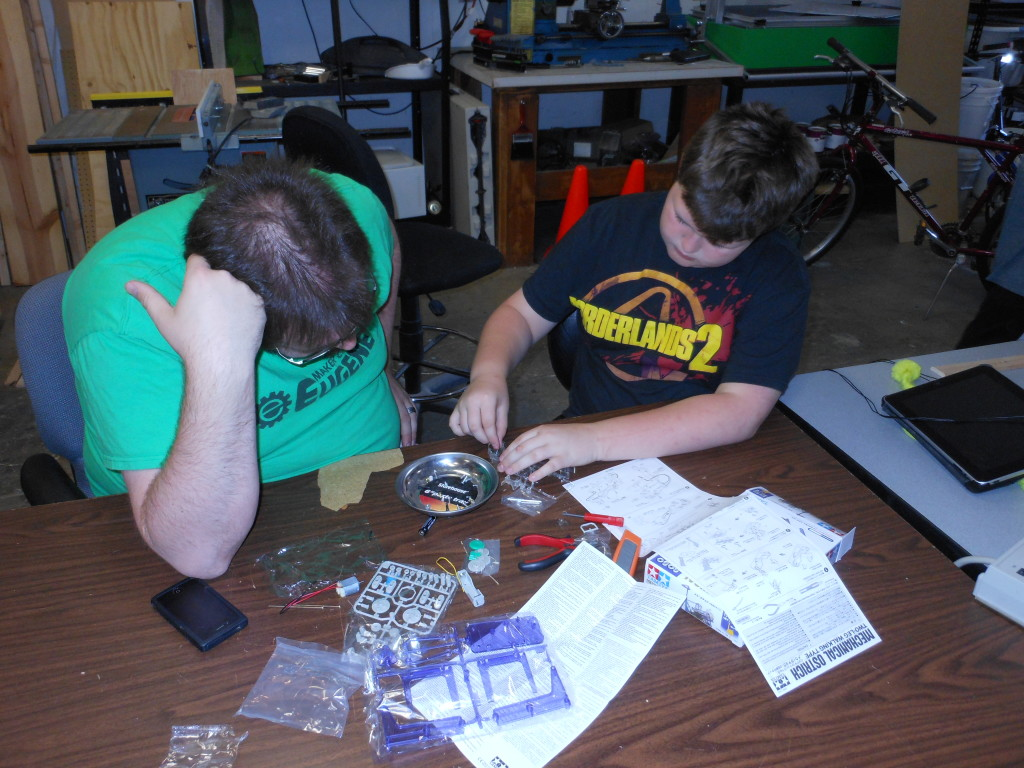 Ben and Alex working on a kit